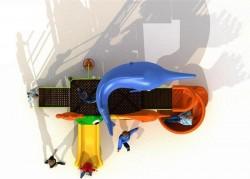 playground da esterno in metallo